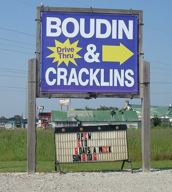 Sign for Boudin