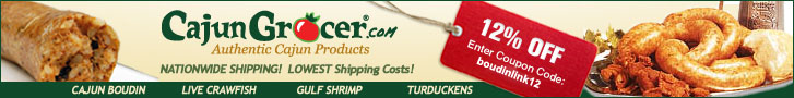 Cajun Grocer Banner With Coupon Code